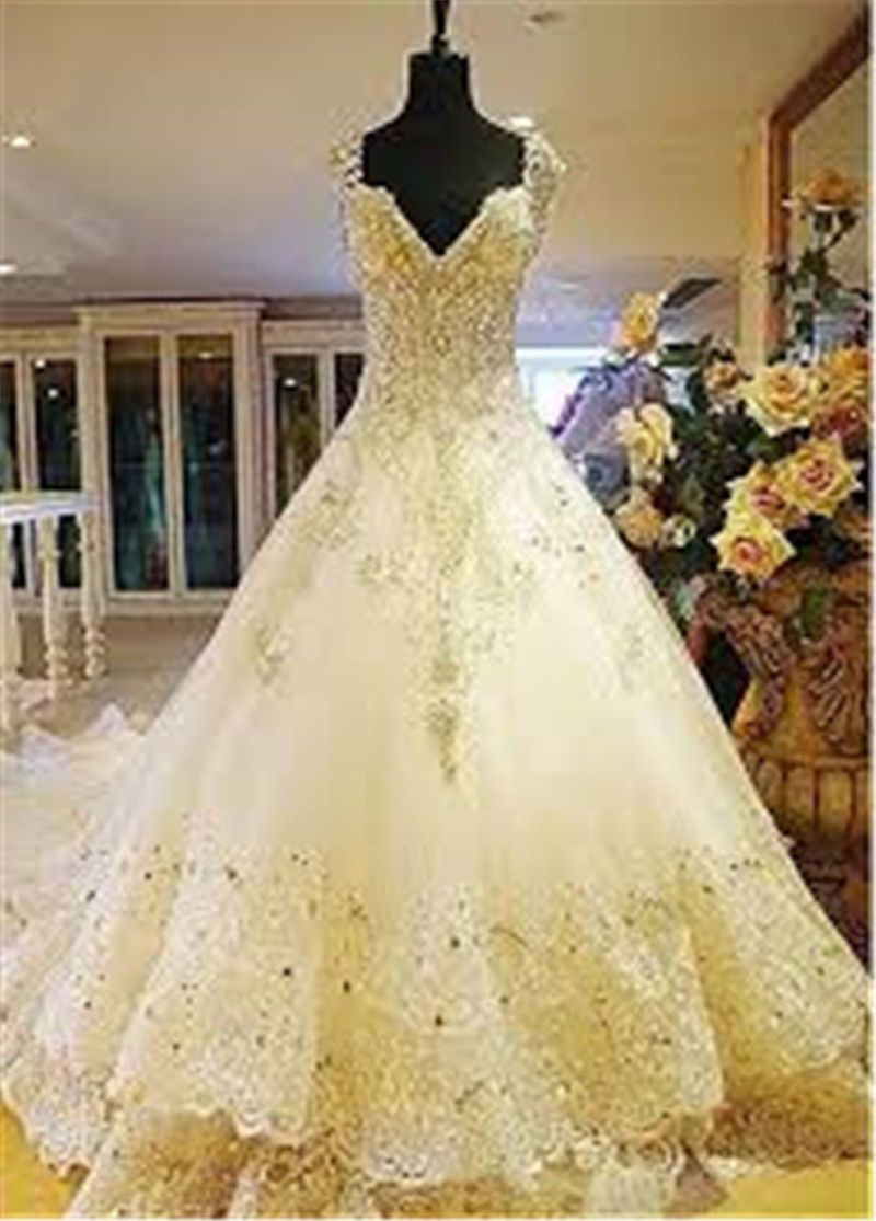 Size 6 wedding dress  Nice  New Crystal WhiteIvory Wedding Dress Bridal Ball Gown
