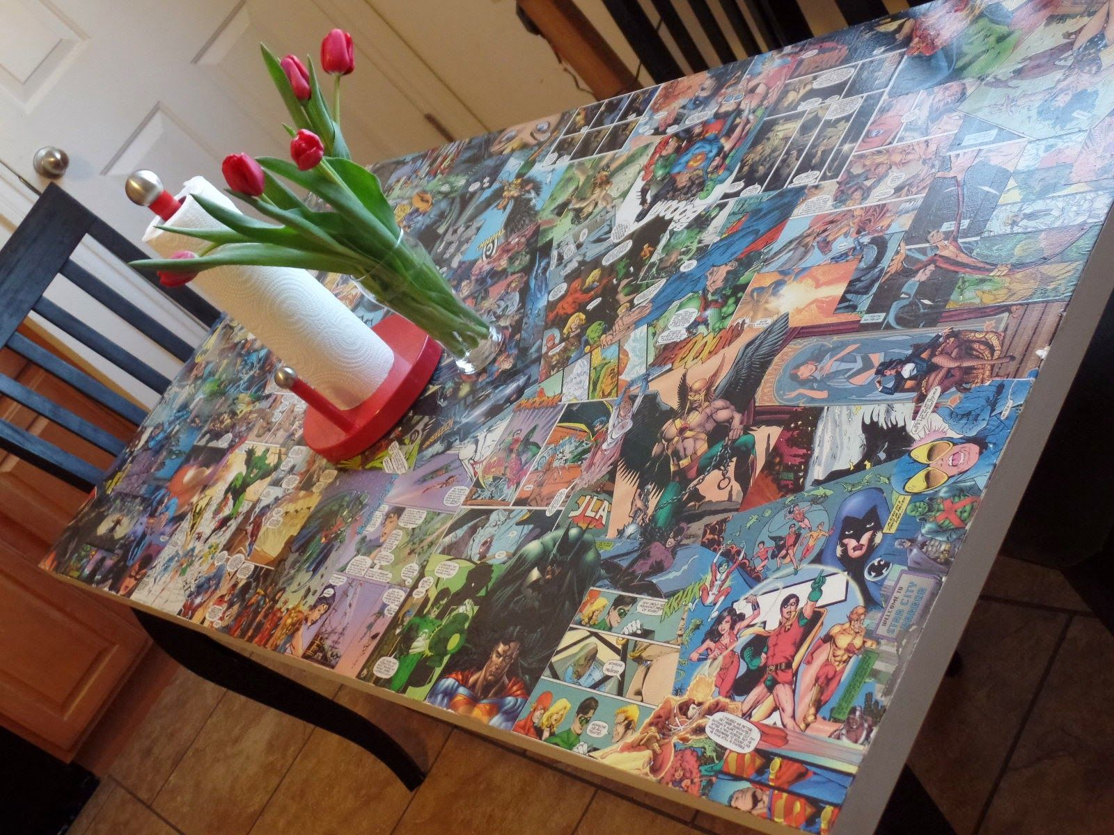 Made With Comic Books And An Inexpensive Ikea Table Ikea