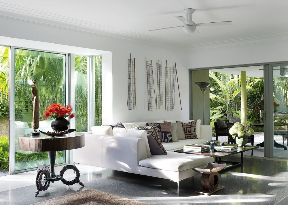 Exotic Living Room By Malcolm James Kutner Inc. And Thomas E. Pope In Key
