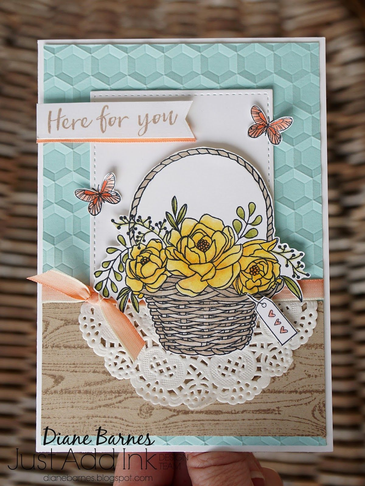Stampin Up Blossoming Basket Free Saleabration Stamp Set Card By Di
