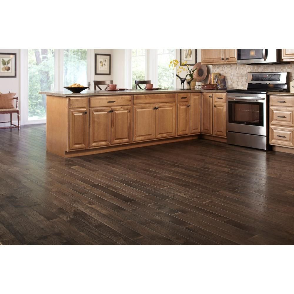 Honey Oak Kitchen Cabinets: Blue Ridge Hardwood Flooring Oak Shale 3/4 In. Thick X 3