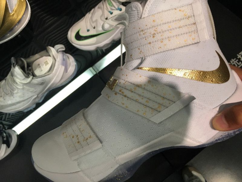 newest collection d2331 ddc56 Nike LeBron Soldier 10 White Gold   Sole Collector