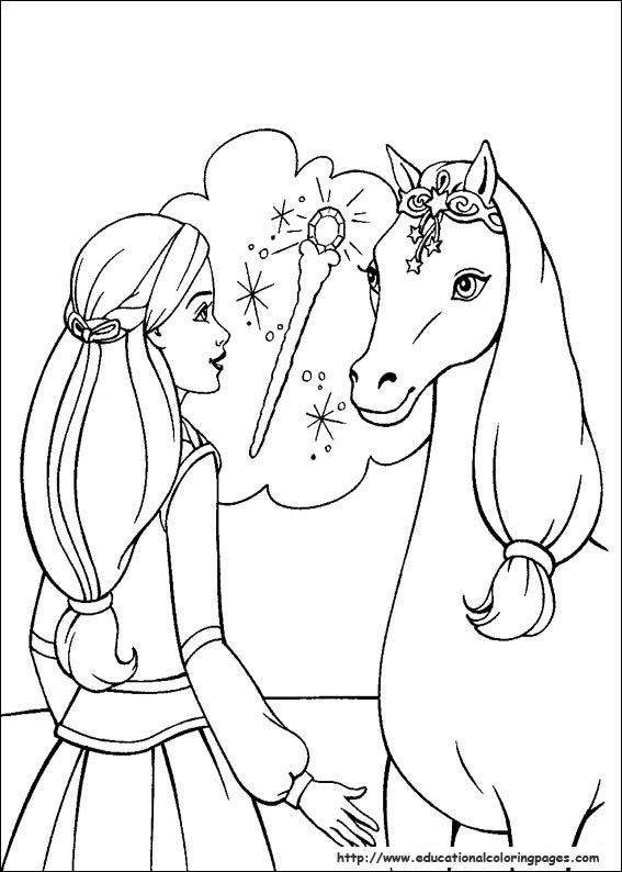 Barbie Magic Pegasus Coloring Pages