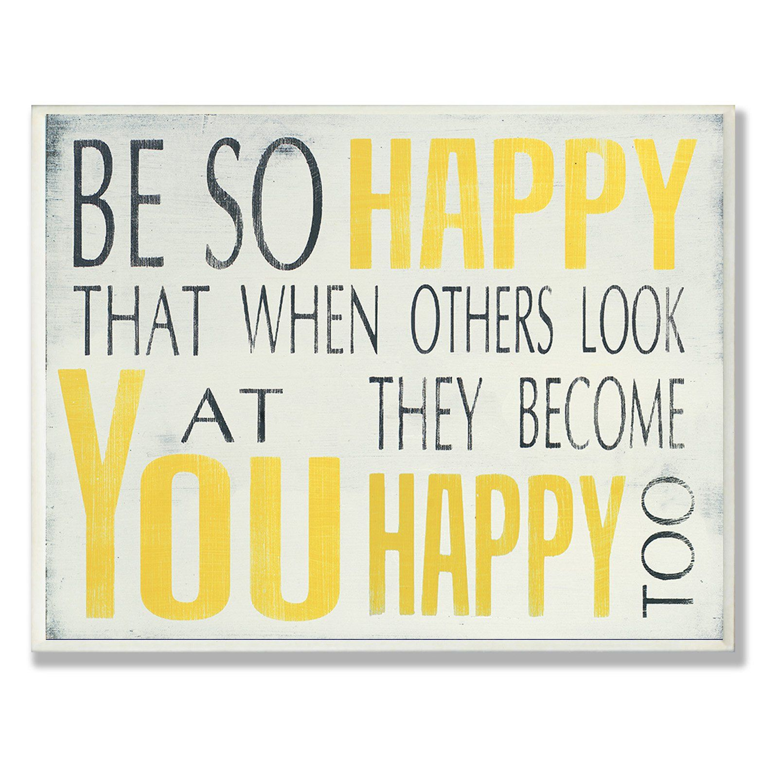 Stupell Decor Be So Happy Wall Plaque - MWP-109_WD_10X15 | Products ...