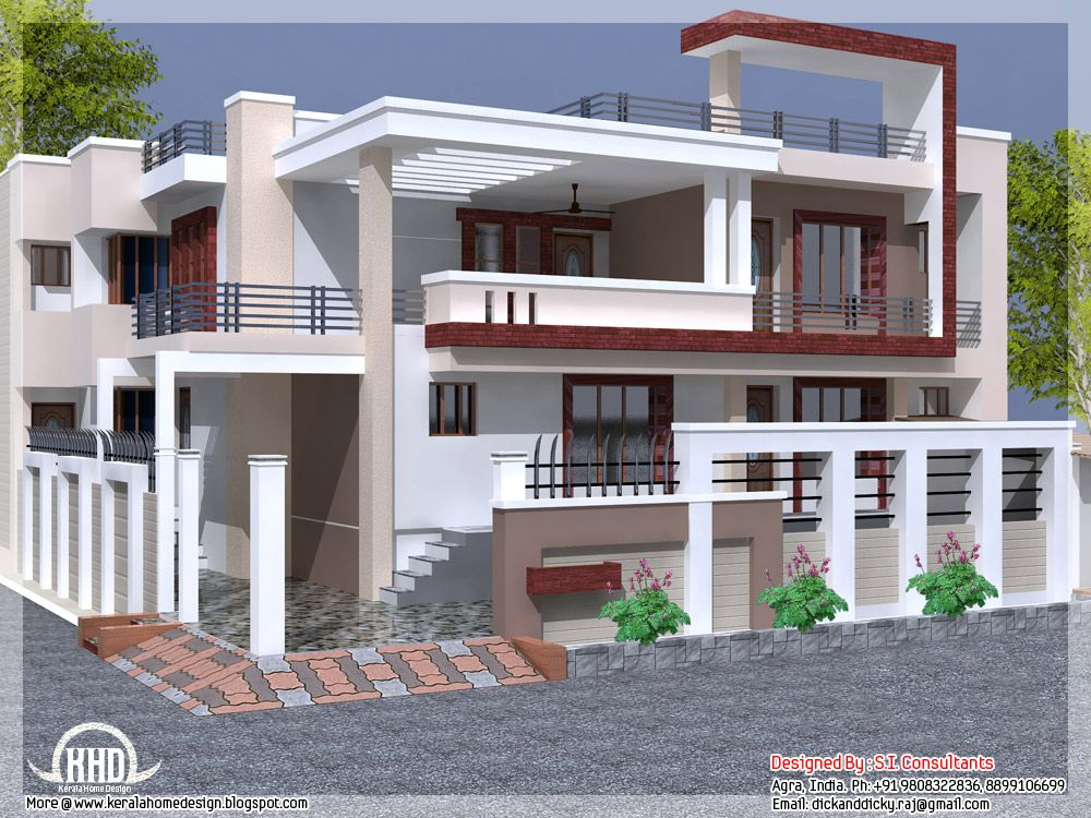 House Desings Simple Indian House Design  Houses  Pinterest  Indian House Designs 2017