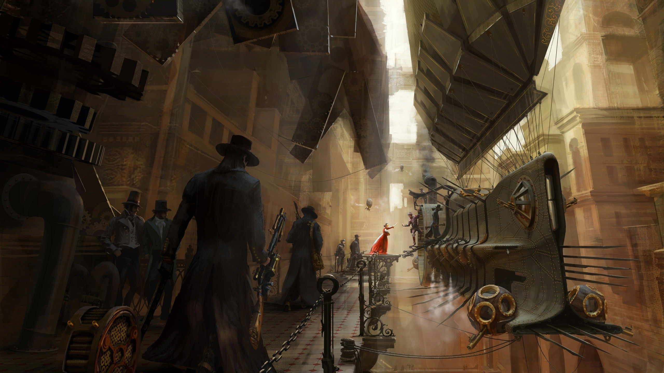 c57758505d202 Steampunk train station Wallpaper | Trains | Steampunk wallpaper ...