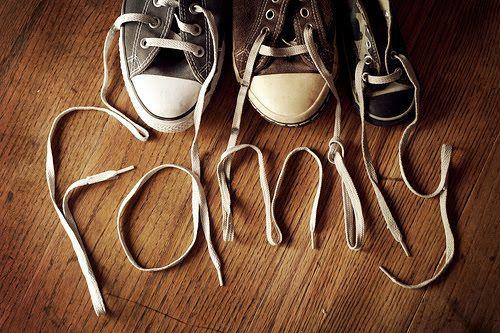 Leuk idee...als je schoenen met veters hebt!