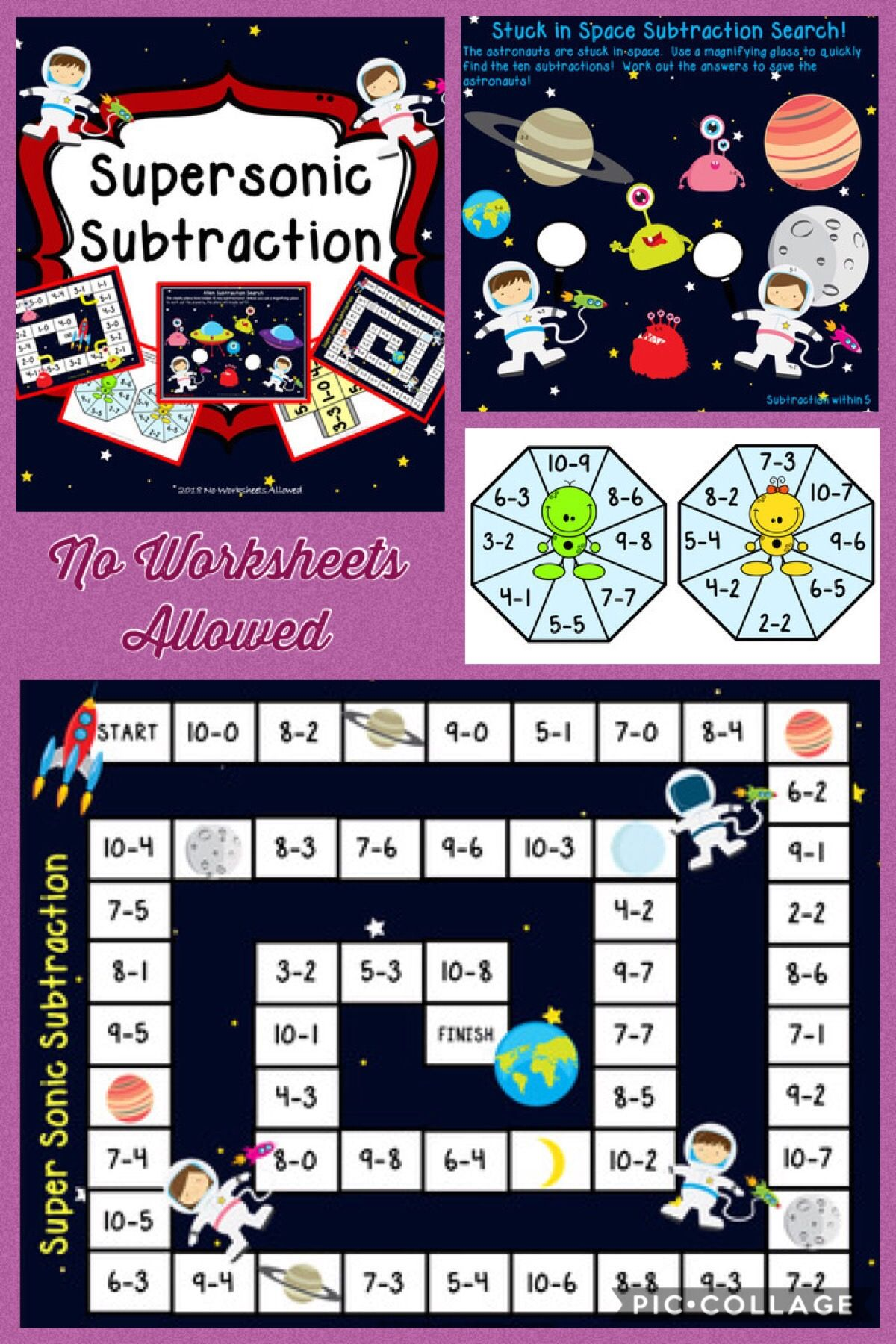 Space Themed Subtraction Games And Activities