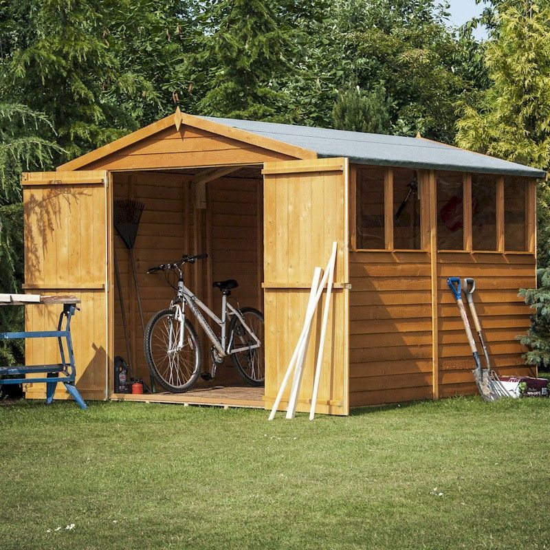 shire overlap garden shed 10x6 with double doors - Garden Sheds 10 X 6