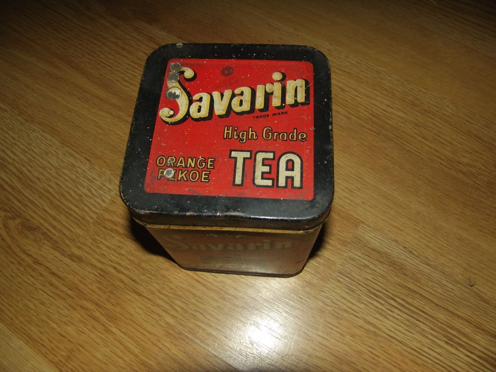 Vintage US tin tea caddy Savarin eBay Antique tins etc