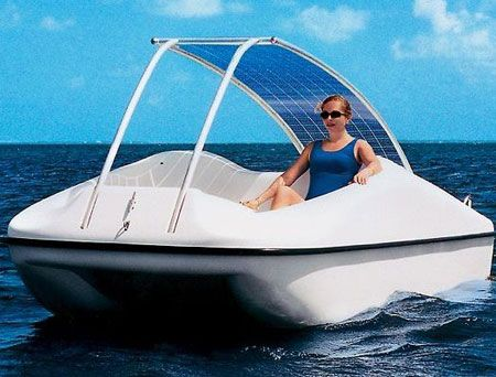 This is Sunny Cells newest product, the solar powered Motor Boat! Now you don't have to row or pedal when out for a casual boat ride.