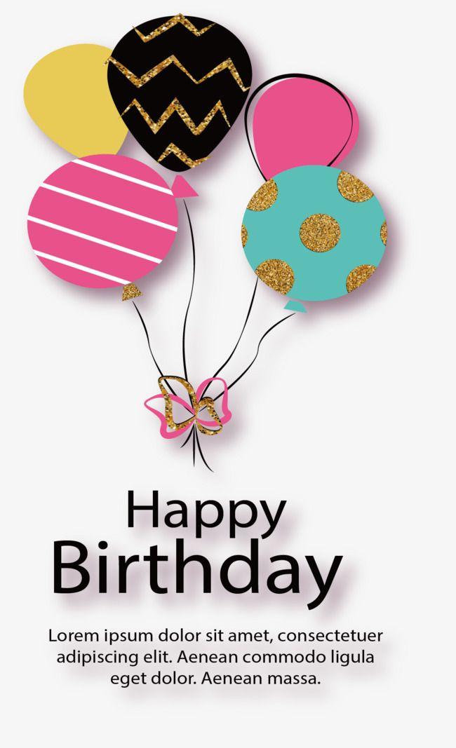 Color Balloon Birthday Card Balloon Clipart Birthday Clipart