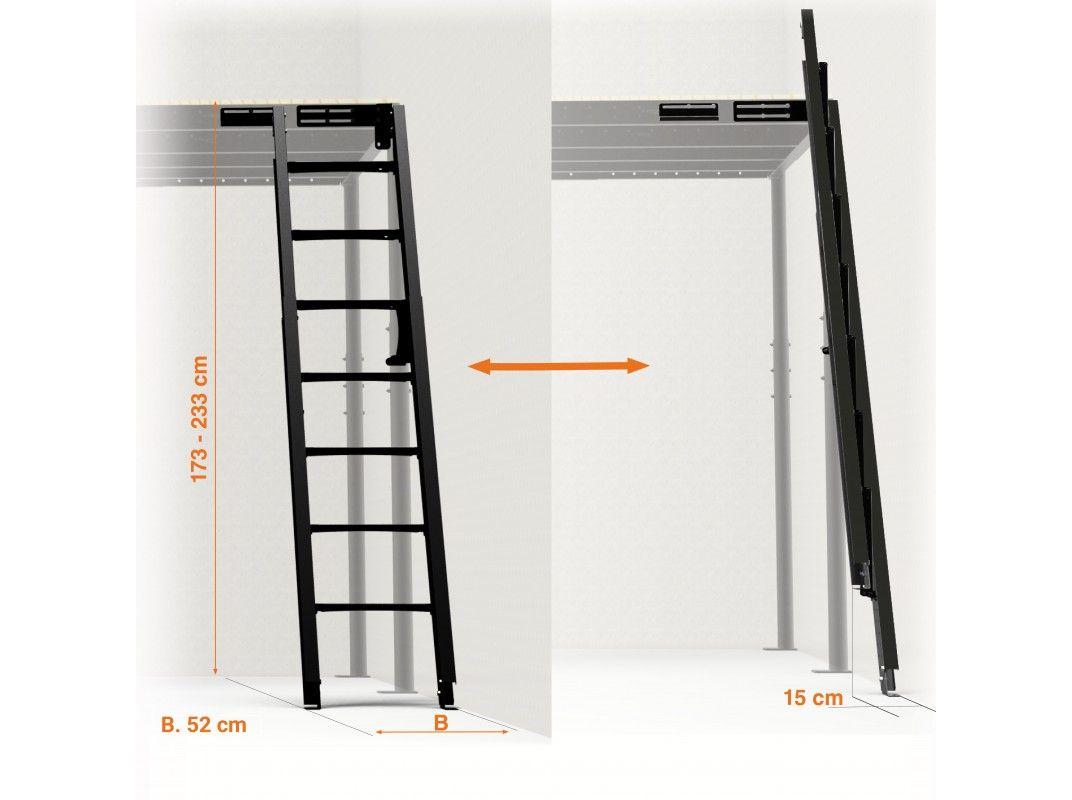 Echelle Rabattable Au Mur 54º Avec Images Echelle Escalier