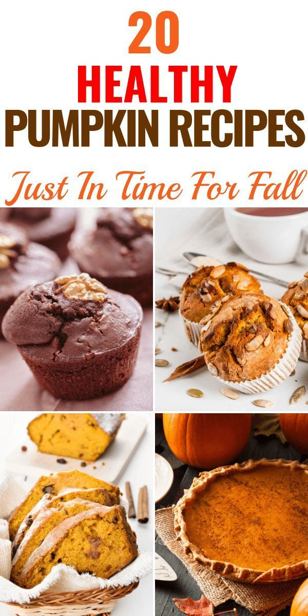 20 Healthy Pumpkin Recipes! Simple No-Guilt Pumpkin Recipes to Get You in The Mood for Fall -   24 sweet pumpkin recipes
