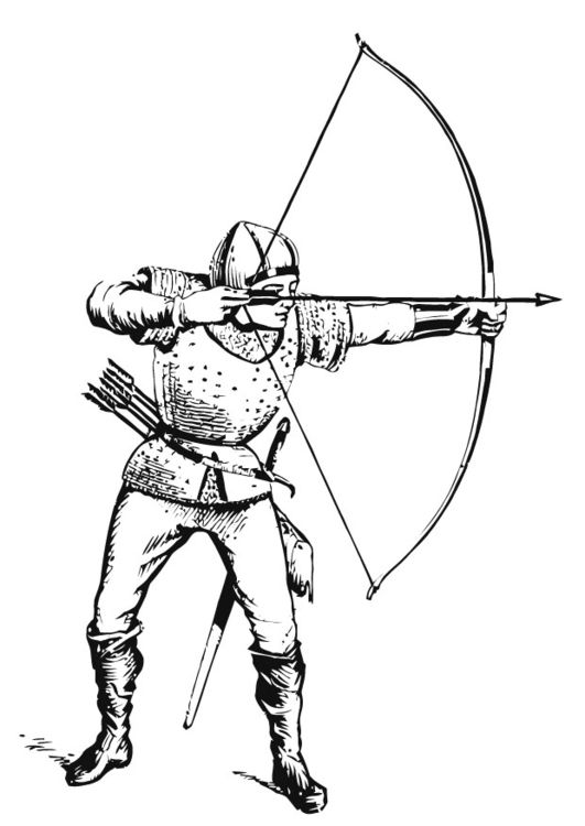 Coloring Page Archer Img 13281 Coloring Pages Medieval Drawings Medieval Archer