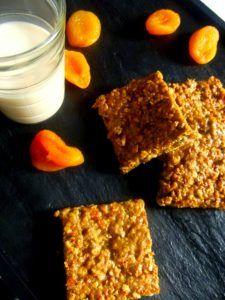 Pavés d'avoine aux abricots -