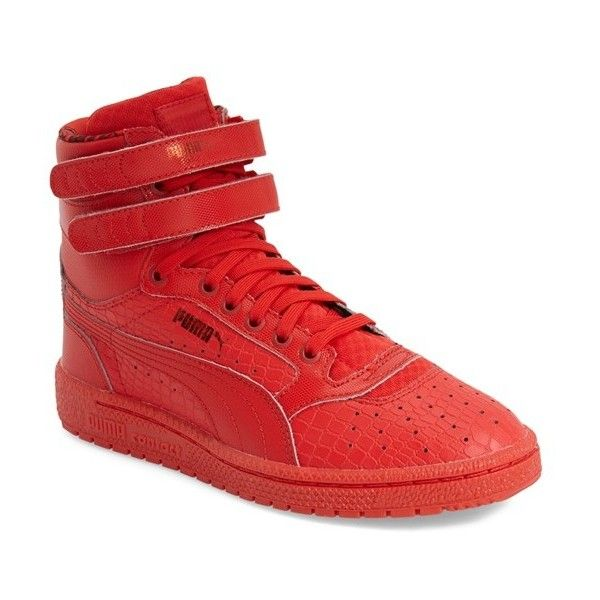 denmark puma sky 11 hi animal embossed sneaker 75 liked on polyvore. puma  high topsred c4e0bcfdf