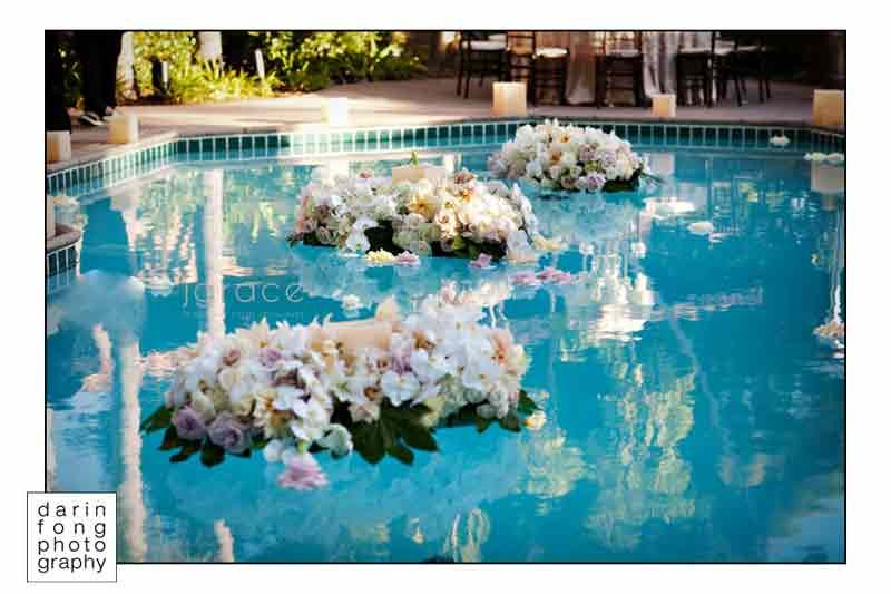 Swimming Pool Floating Flowers Tropical Swimming Pool Floating Candles Wedding Centerpieces