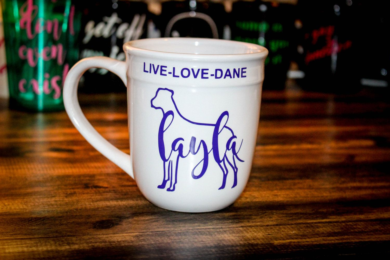 Personalized Great Dane Coffee Mug - Customize with any ...