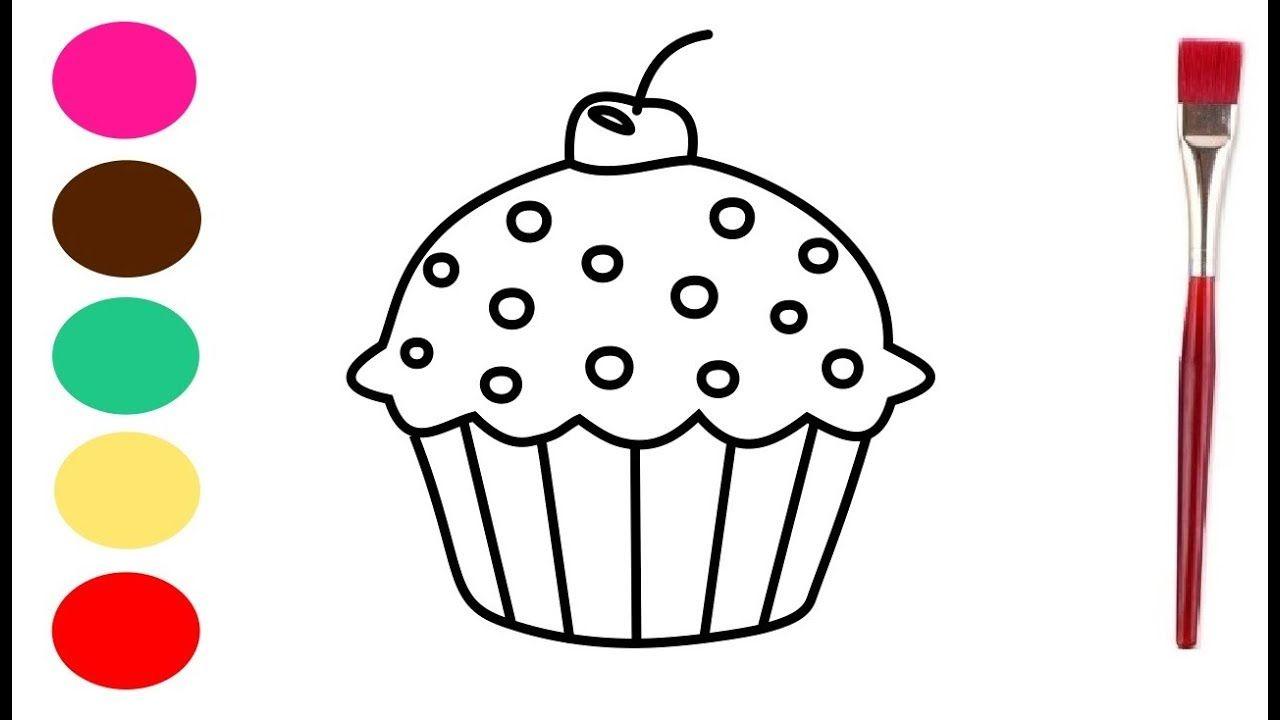Cupcake Tekenen En Verven Kleurplaat Voor Kinderen Cupcake Tekening Kleurplaten Voor Kinderen Voor Kinderen