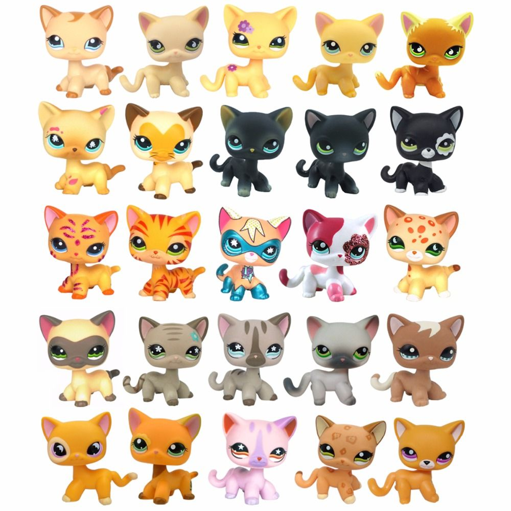 Click To Buy Lps Collections Short Hair Cat Rare Old Styles White Pink Tabby Black Pink Super Kitty Pet Shop Cute Animal Toys Lps Pets Lps Toys Lps Cats