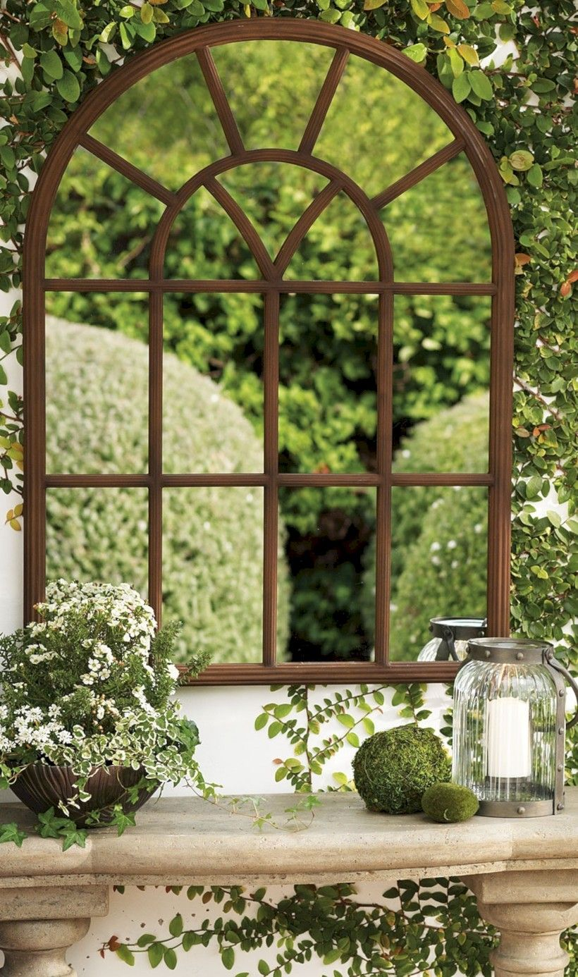 Merveilleux 46 Stunning Ideas For Outdoor Garden Wall Mirrors