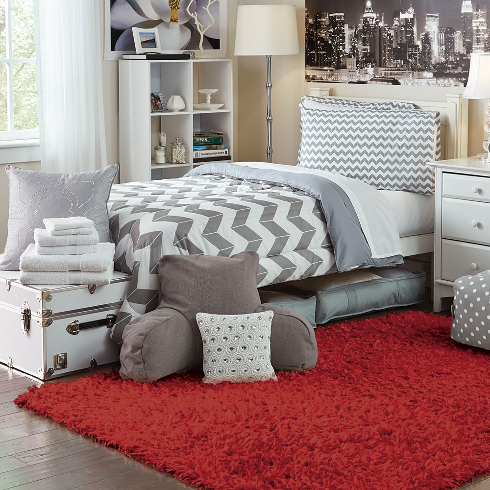 large shag scatter rugs red  college bedroom decor