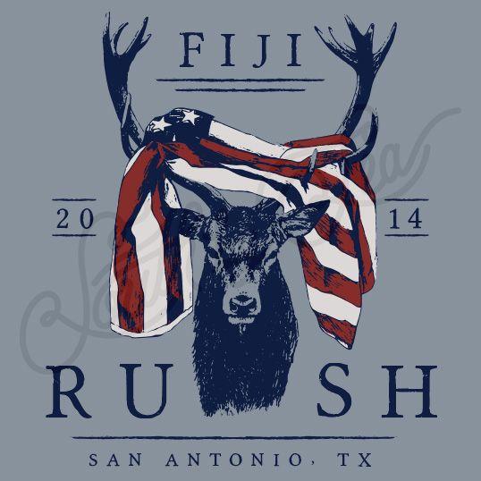 Fraternity Recruitment Fiji Deer Antlers American Flag