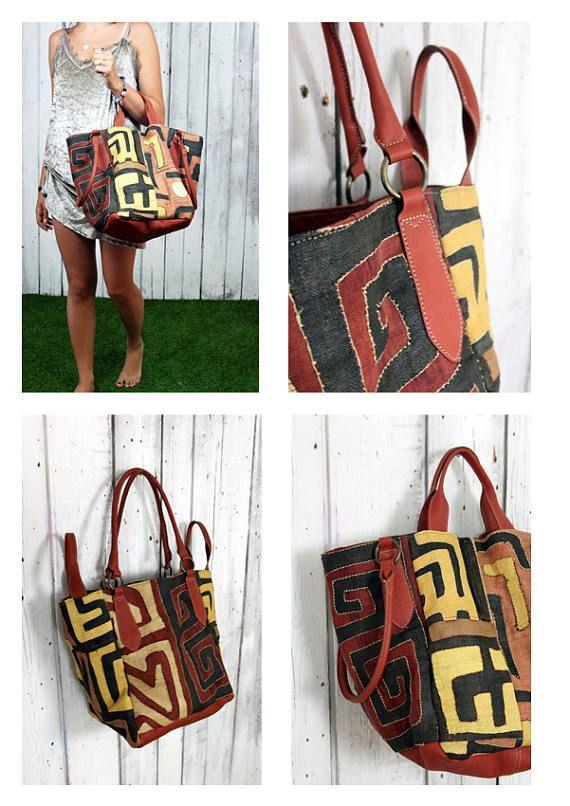 FRANCESCA a beautiful handmade Italian Vintage Leather bag and Couba ... 65bbc5666ff