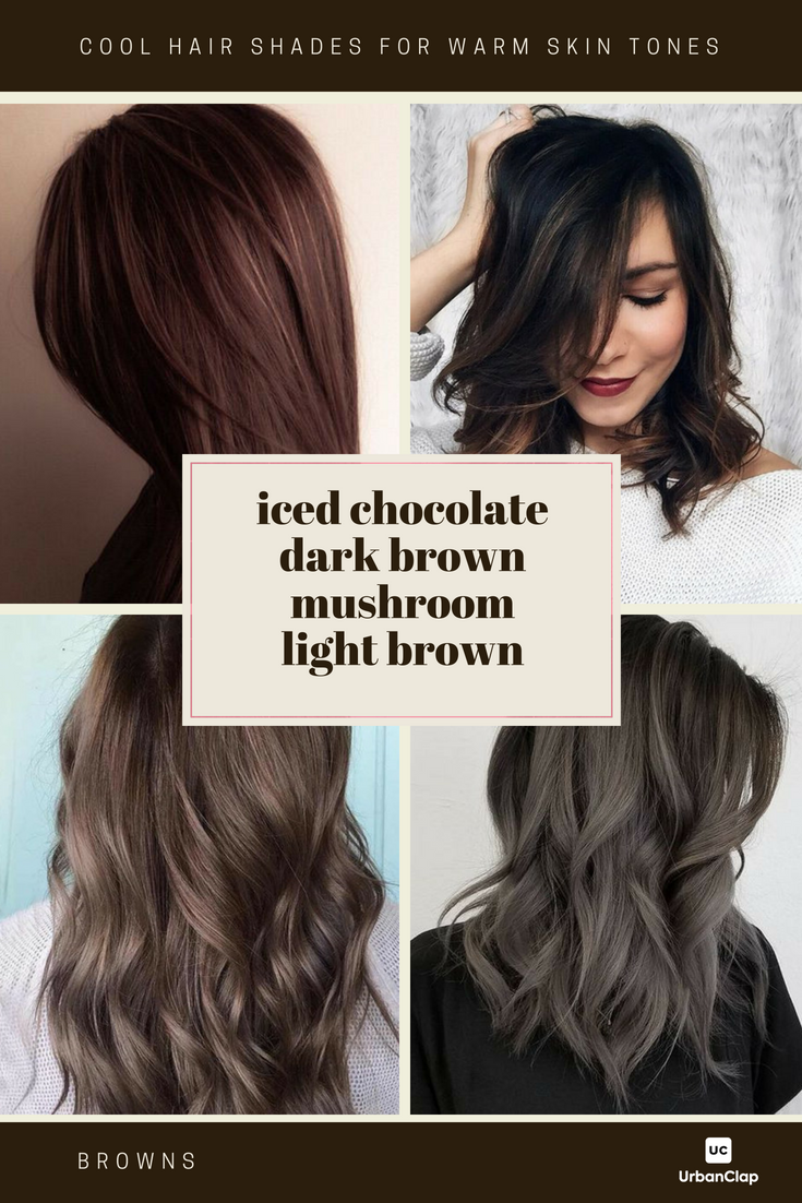 How To Choose The Best Hair Colour From Hair Colour Charts Hair Color For Brown Skin Brown Hair Color Shades Hair Color For Warm Skin Tones