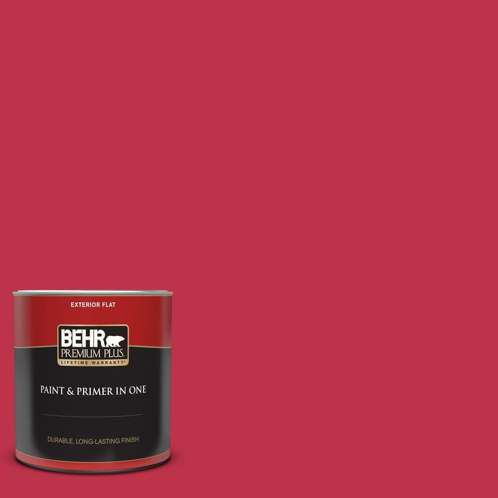 Home Decorators Collection 1 Qt Hdc Fl13 1 Glowing Scarlet Flat Exterior Paint And Primer 430004 Behr Premium Plus Exterior Paint Exterior