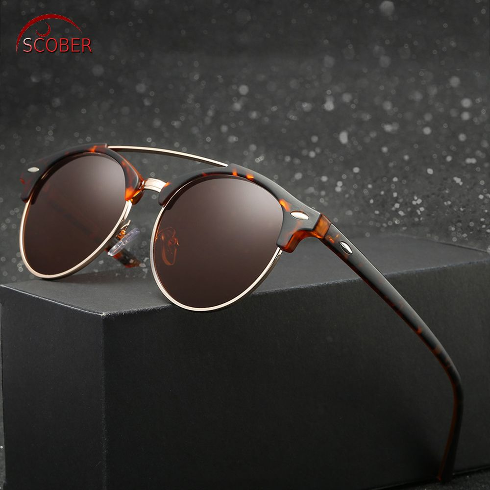 10491797ee Retro Vintage Round men women polarized sun glasses polarized sunglasses  Custom Made Myopia Minus Prescription Lens