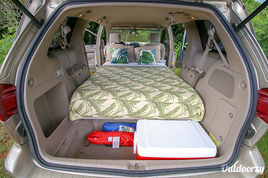 2004 Toyota Sienna Camper Camper Van Rental In Lihue Hi Toyota Sienna Mini Van Camper