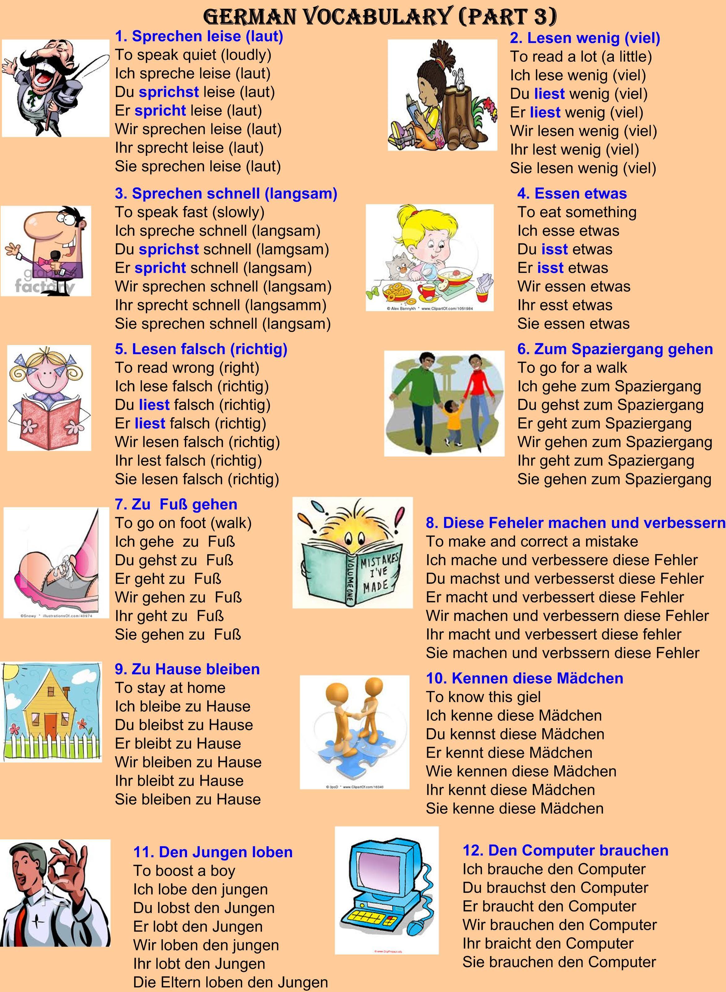 German Vocabulary Part 3