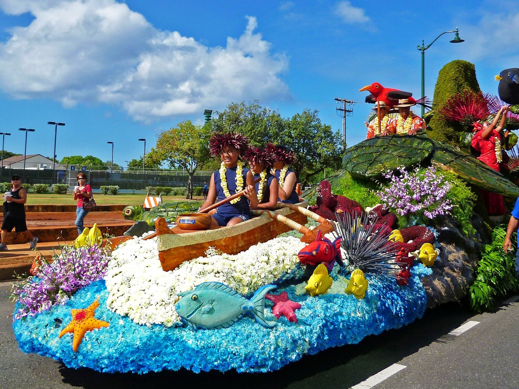 Honolulu sept 22 2012 annual aloha festival parade for Princess float ideas
