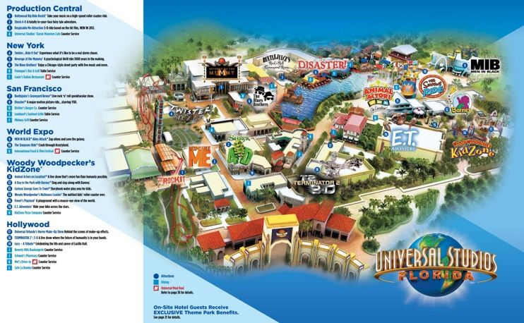Orlando Universal Studios Florida map Maps Pinterest Florida