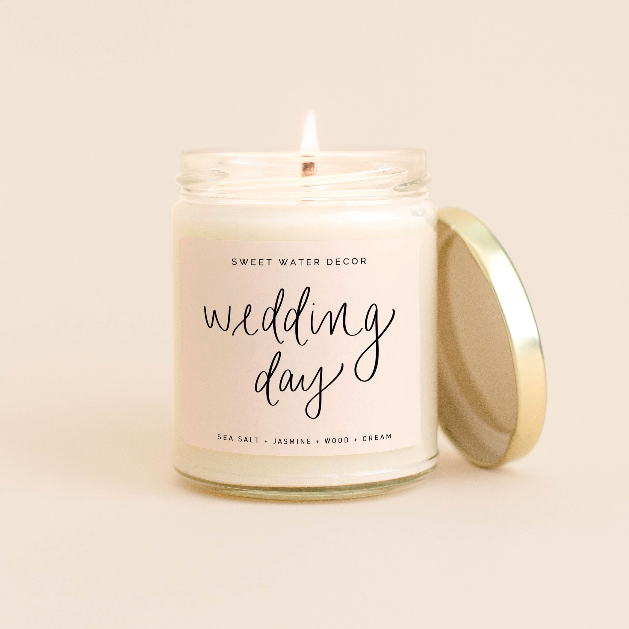 Wedding Day Candle The Day Of Soy Candle Bride Candle Bride To Be Gift Engagement Gift Wedding Planner Gift P In 2020 Sweet Water Decor Soy Candles Candles