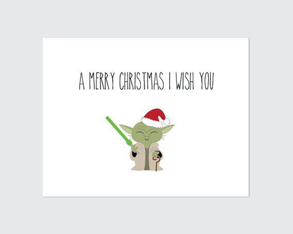 Star Wars Christmas Card Printable   Yoda by RememberNovemberShop
