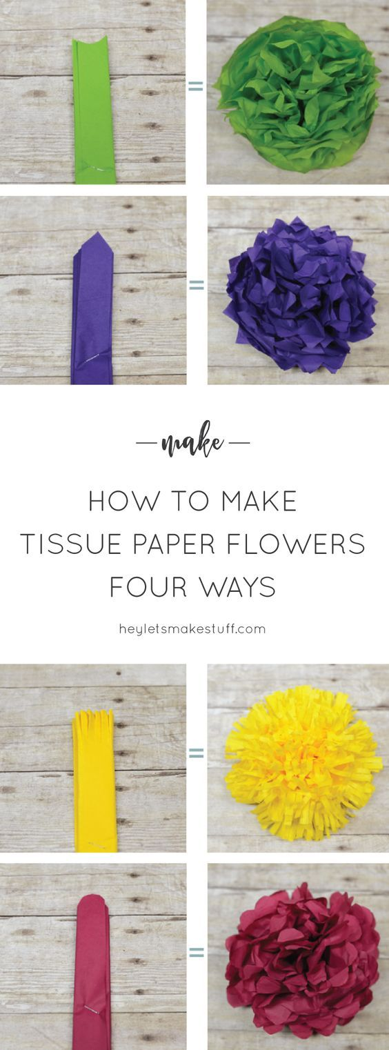 How To Make Tissue Paper Flowers Four Ways Wedding Centerpieces