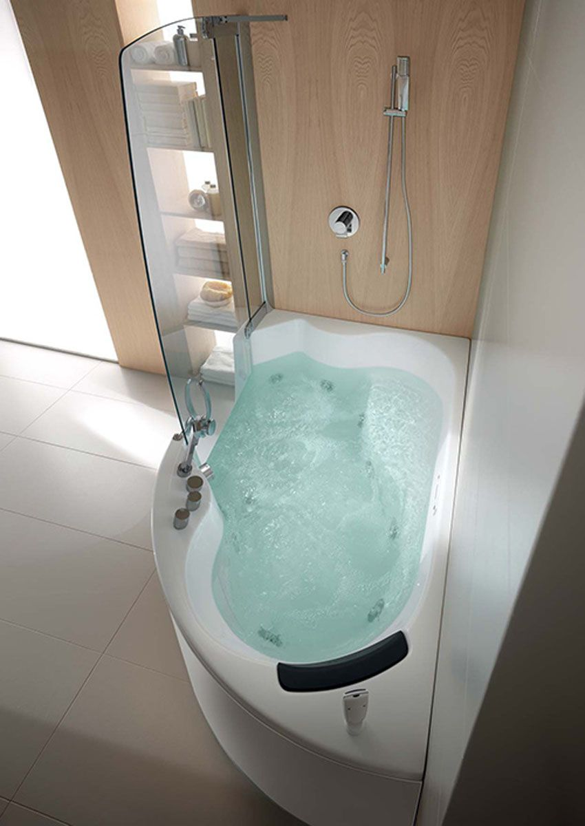 Jacuzzi Bath With Shower teuco corner whirlpool shower integrates shower with bathtub