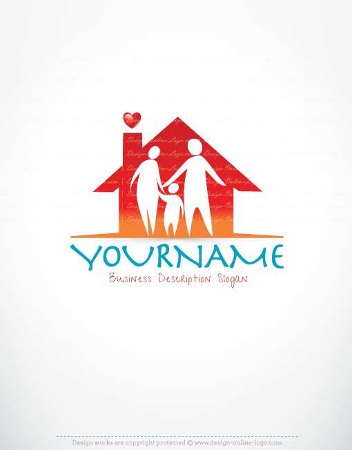 Exclusive Logo Store   Family Home Logo