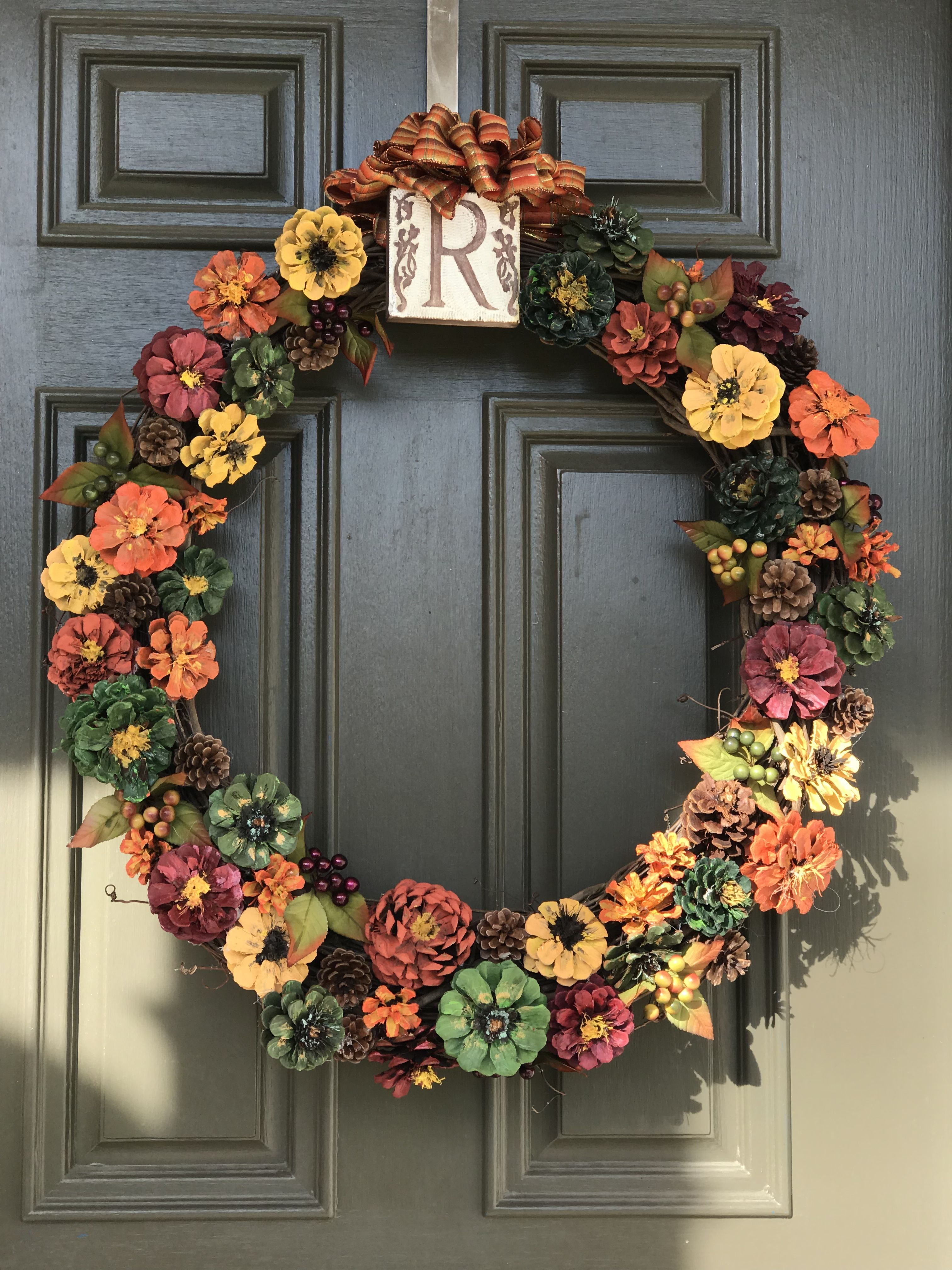 27+ Fall wreaths with pine cones inspirations