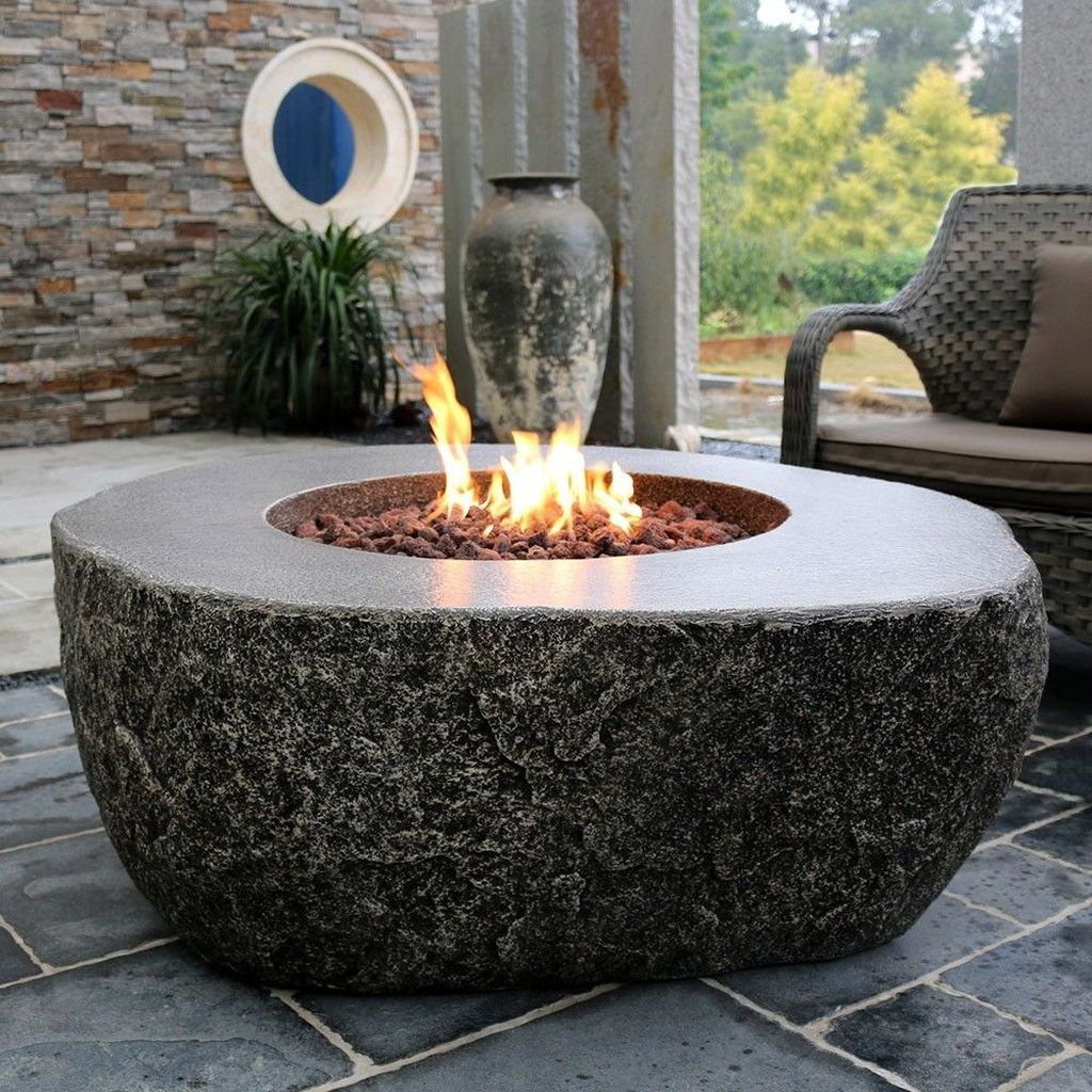40 creative winter patio decorating ideas with fire pit in