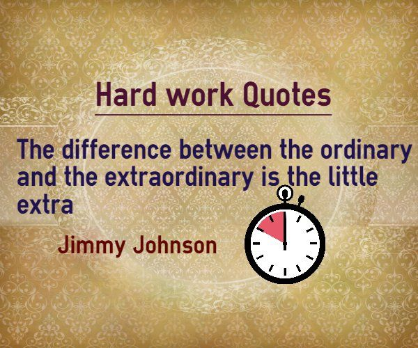 Thesis Quotes Hard Work: Hard Work Quotes : The Difference Between The Ordinary And