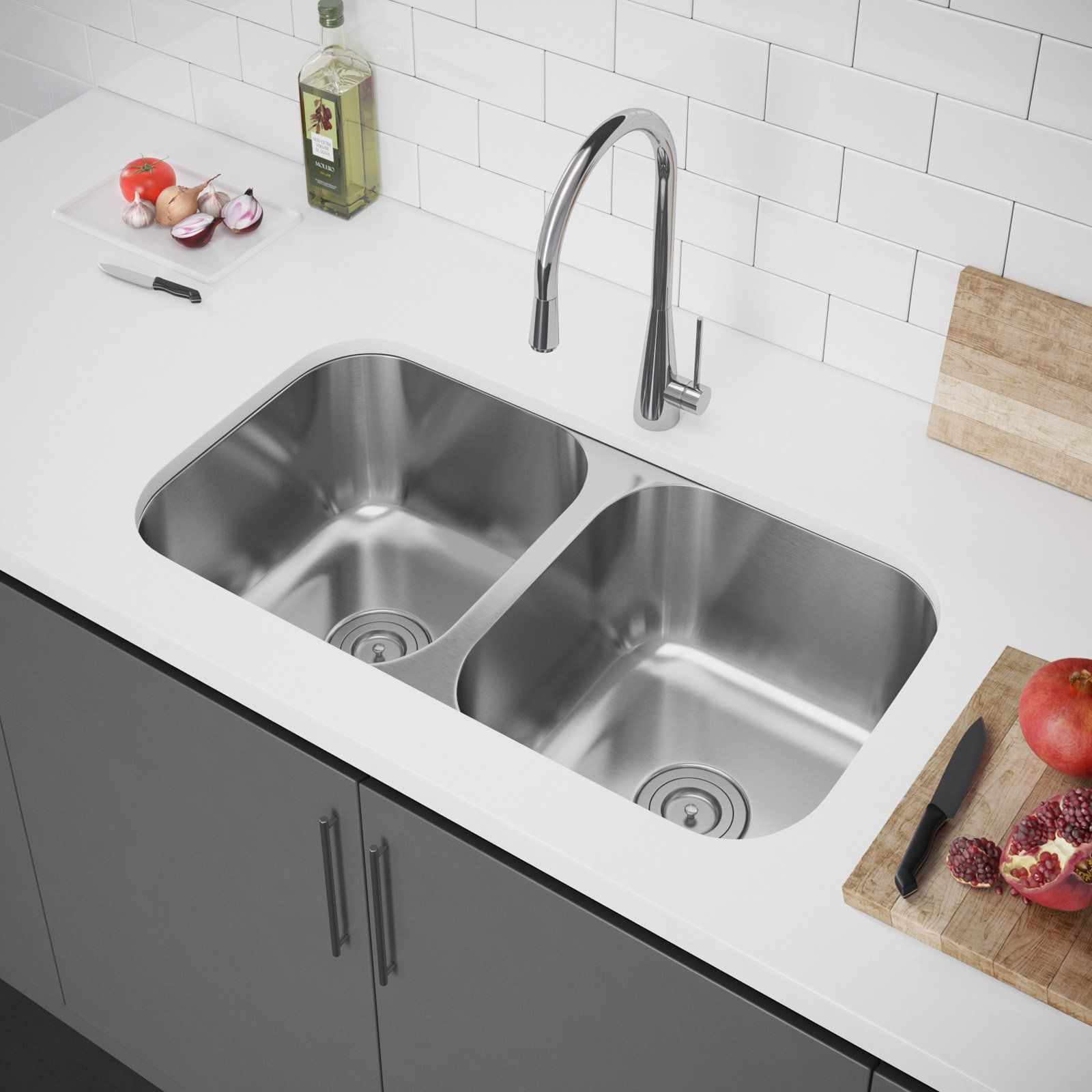 Exclusive Heritage Double Bowl Undermount Ksd 3221 D5 Kitchen Sink