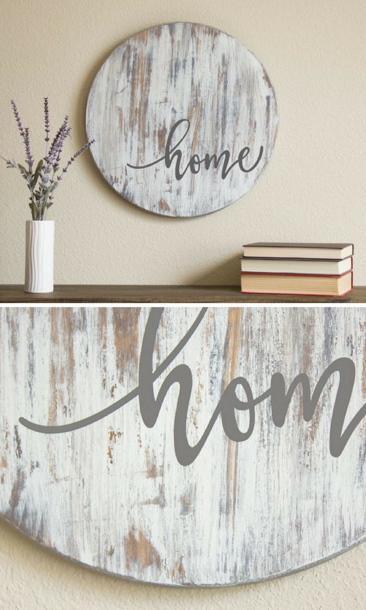 Home Sign - Fixer Upper Style - Farmhouse Sign - Rustic Home Decor - Housewarming Gift - Farmhouse Decor - Wooden Sign - Rustic Wood Sign #affiliate