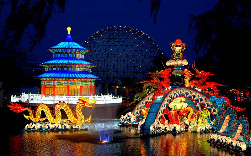 Chinese influence in the Greater Toronto Area.  Chinese lantern festival in Toronto.