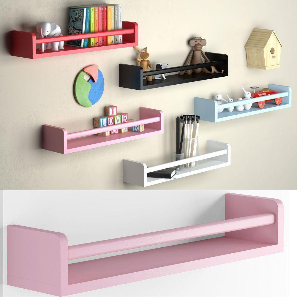 Light Pink Baby Nursery Room Wall Shelf