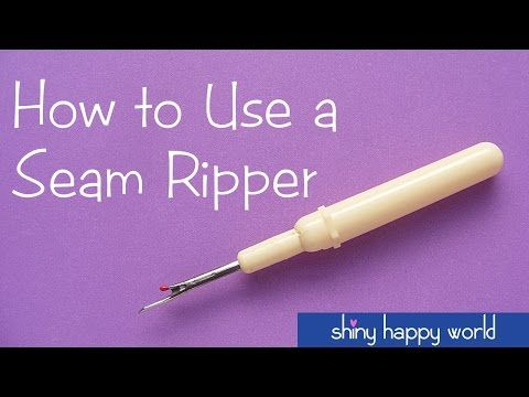 How to Use a Seam Ripper  |  National Sewing Circle - YouTube