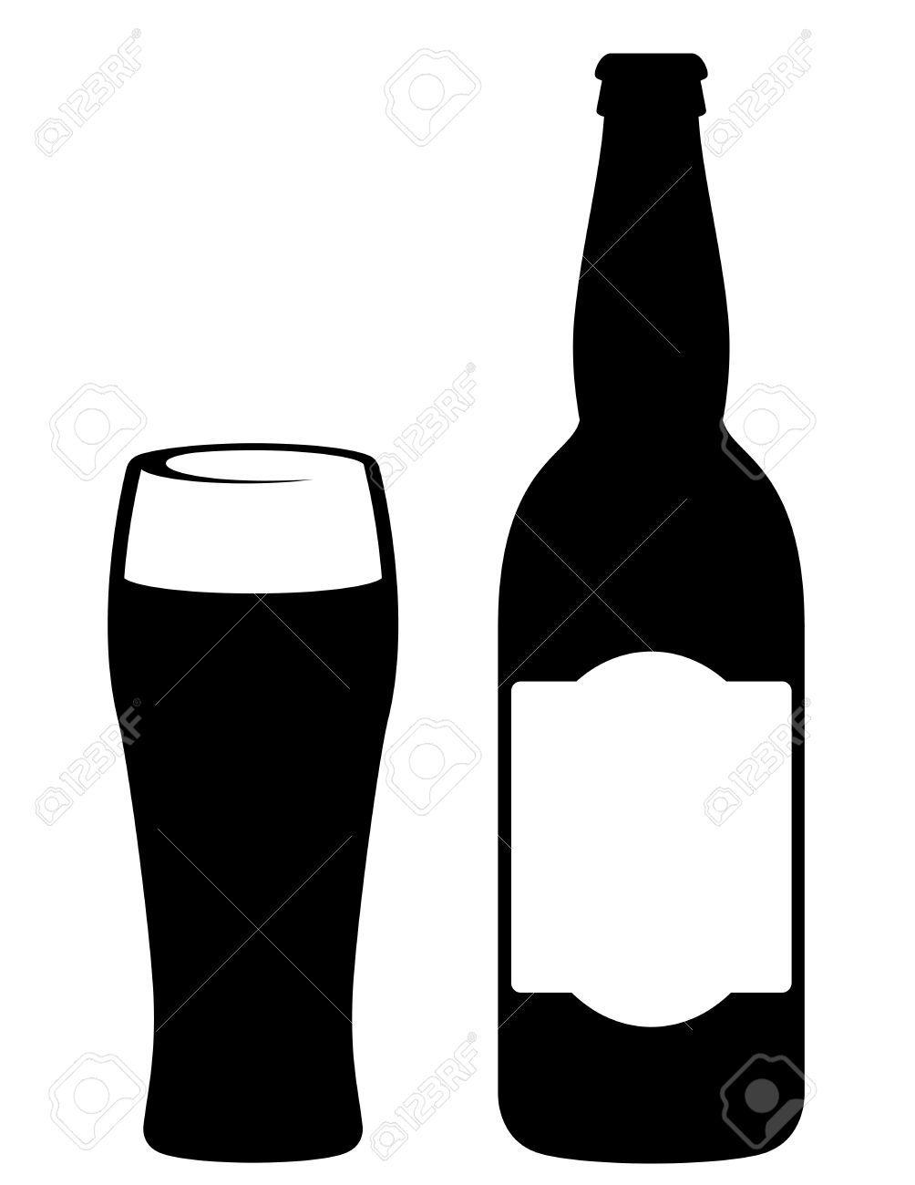 Beer Silhouette Pesquisa Google Beer Stain Beer Bottle Cricut